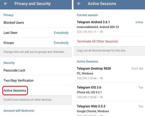 Two-step authentication to prevent telegram hacking